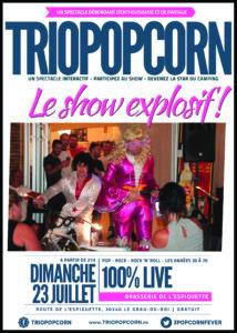 affiche concert brasserie camping de l'espiguette grau-du-roi