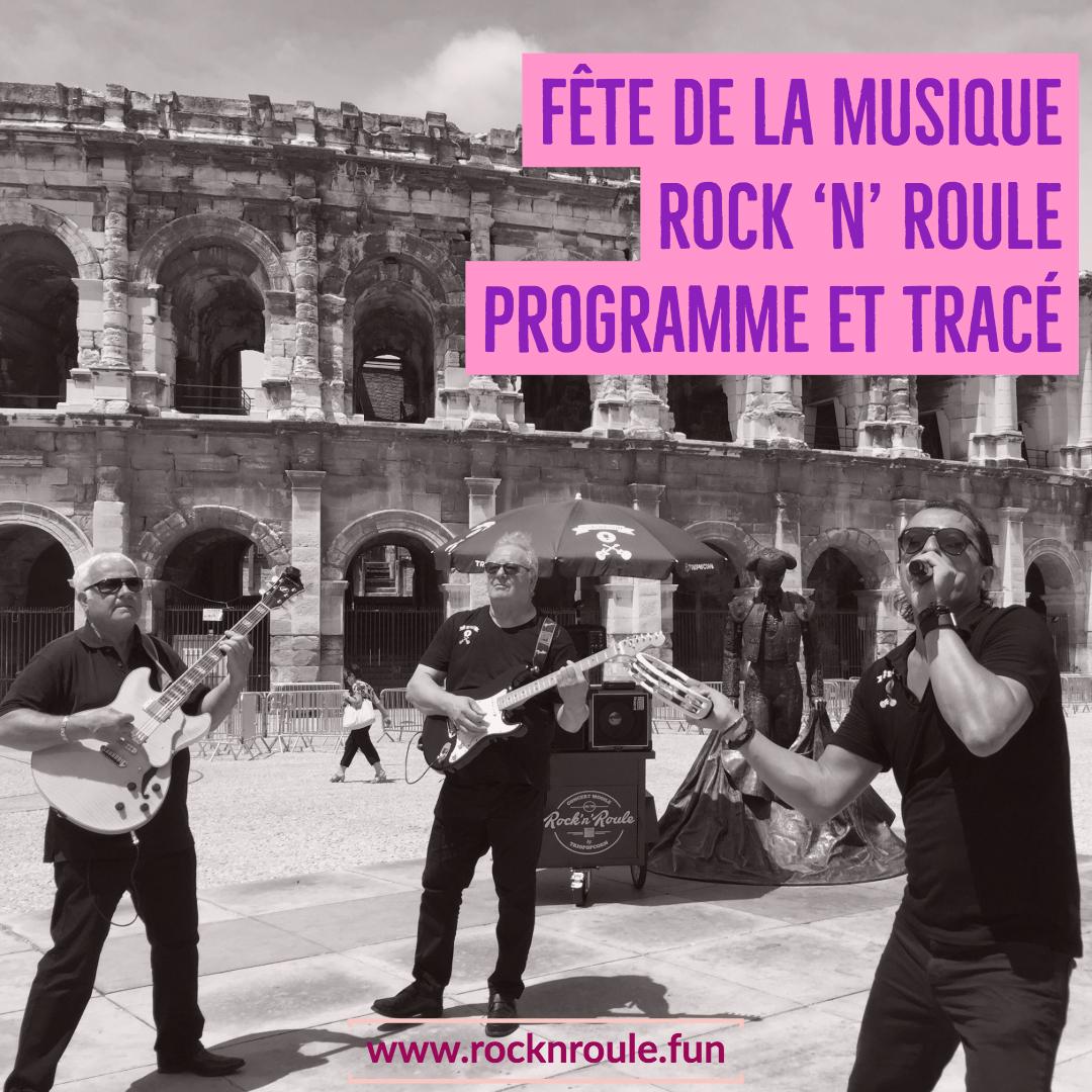Nîmes, fête de la musique 2018 rock 'n' roule