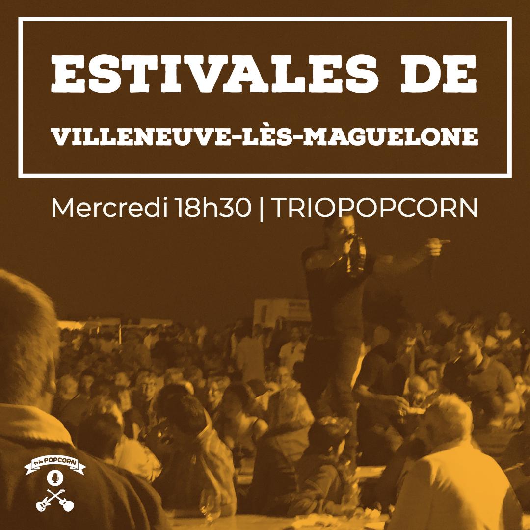 concert rock avec le groupe triopopcorn aux estivales deVilleneuve-lès-Maguelone