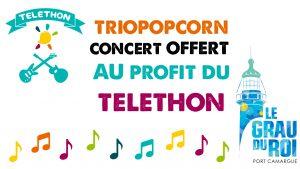 triopopcorn concert pour le téléthon