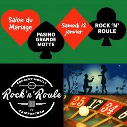 rock 'n' roule au pasino pour le salon du mariage