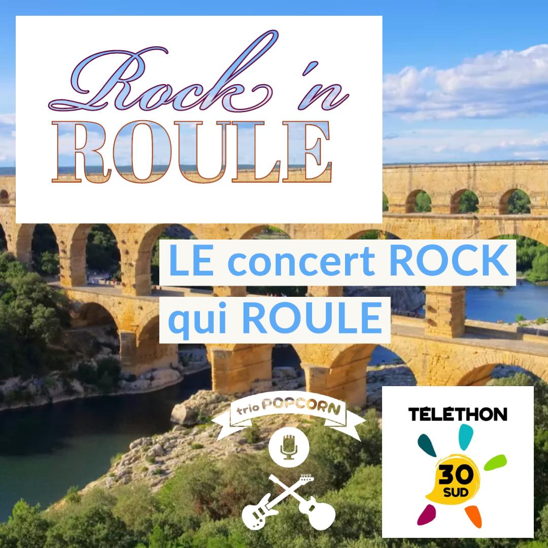 Rock ' Roule au pont du Gard pour le lancement de la campagne telethon dans le Gard